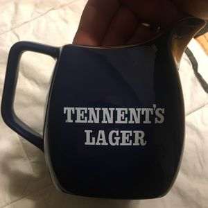 Tennent's Lager 1L Pitcher Made in England